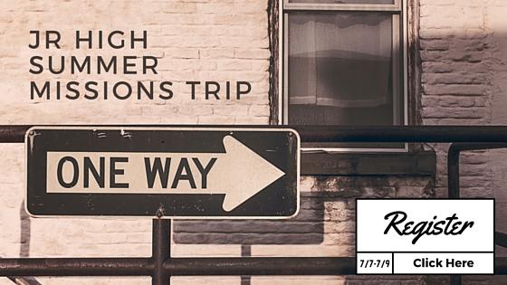 Jr High SummerMissions Trip